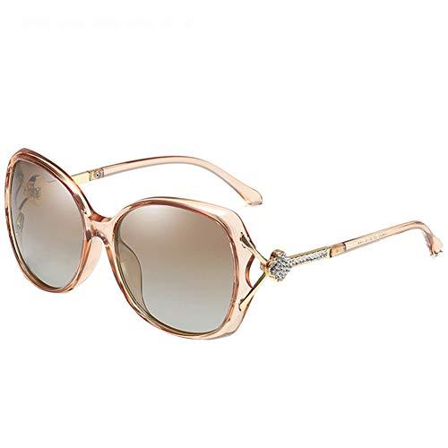 LFF SPORT Polarisierte Sonnenbrillen für Damen UV Schutz Diamant Dekoration Mit Brillenetui Leichter unzerbrechlichem Rahmen Outdoor Sportbrille,A