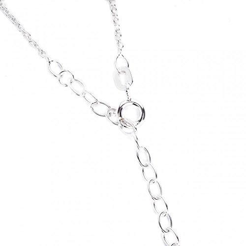 ASS 925 Silber Damen Mädchen Halskette mit rundem Anhänger Fee, Prinzessin, Kette 42 cm - 2