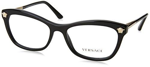Versace - VE 3224, Schmetterling, Acetat, Damenbrillen, BLACK(GB1), 54/17/140