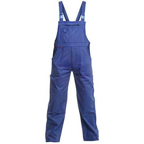 Charlie Barato L32B32/52A Arbeitshose'Sweat Life Latzhose' für Handwerker, Kornblau, 52