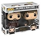 FunKo 21497 – Game of Thrones Pop Vinyl Figure Jon Snow and Bran Stark 2 Pack Limited Edition