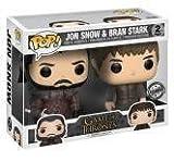 FunKo 21497–Game of Thrones Pop Vinyl Figure Jon Snow and Bran Stark 2Pack Limited Edition