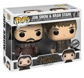 Funko - Vinyl Figure of Jon Snow and BRAN Stark of Game of Thrones Pop, 2 Packages, Limited Edition, 21497