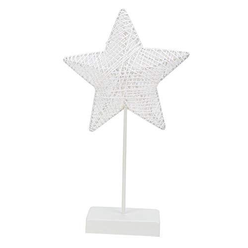 koulate Led Sterne Lichter Sterne Nachtlicht, Neon Nachtlicht Rattan Tissue Stars mit Halter Basis Batterie Keine Hitze Hochzeit Zeichen, Wanddekoration, Geburtstagsfeier, Camping