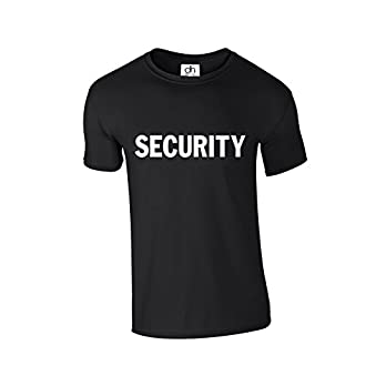 D&H Security Event Crew Staff Bouncer Body Guard Doorman Police Fancy Dress Unisex 4 Colours Tshirt XS-3XL (Security,T-Shirt)