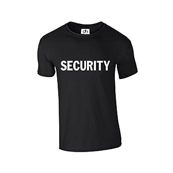 D&H Security Event Crew Staff Bouncer Body Guard Doorman Police Fancy Dress Unisex 4 Colours Tshirt XS-3XL (Security,T-Shirt)