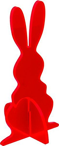 Elliot lichtzauber 1019933 vitrail lapin 3D magic debout rouge 30 cm
