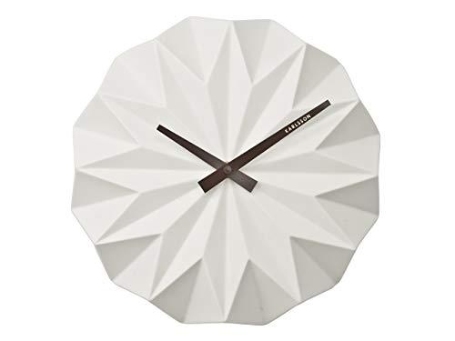 Karlsson Origami Uhr, Wanduhr, Keramik, Weiß, One Size -