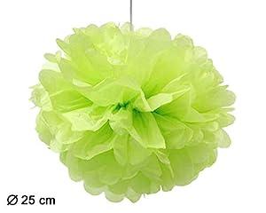 Atosa-50730 Atosa-50730-pompom 25cm verde, color, Talla única (50730)