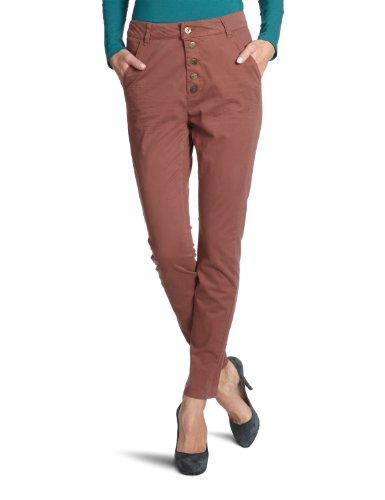 Pantaloni da donna VERO MODA 10082161 DAVIS NW CANVAS CHINO Braun (FUDGESICKLE) W36