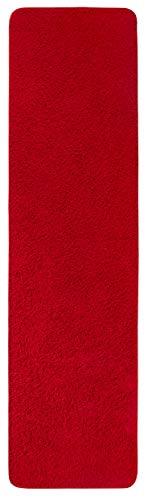 lor Teppich für Wohnzimmer Langflor, schadstoff geprüft 100 % Polypropylen,  rot 67 x 250 cm ()