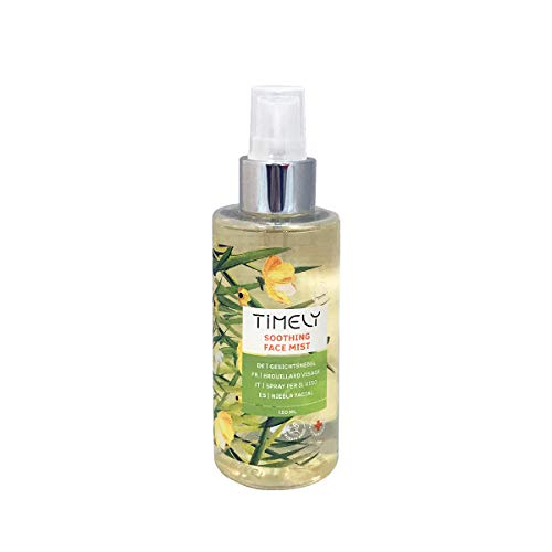 Timely - Bruma facial calmante 2 en 1 tonificante y refrescante, 150 ml