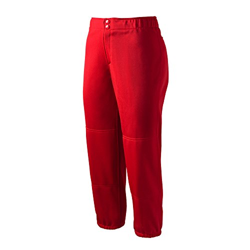 Mizuno Select non-belted Low Rise Fastpitch Pant Red