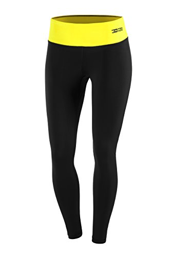 FITTECH PERFORMANCE Damen Thermoaktiv Legging Leggins Strumpfhose Tights Laufhose Sporthose Lang Fitness Pilates Outdoor Radsport Running - 4