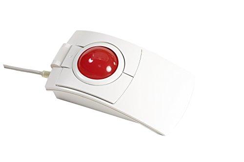 cst2445W (GL) (l-trac Glow Rot) USB Wired beidhändig Tragbar High Performance Laser Ergonomische Trackball mit Hintergrundbeleuchtung (Weiß)-Hergestellt in Den USA (Microsoft Trackball-maus)