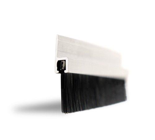 Weiss-Easy Fix DE501 Zugluftdichtung. Breite 914mm. 20mm Buersten. Dichtung fuer Tuer und Fenster inclusive Schraubensatz