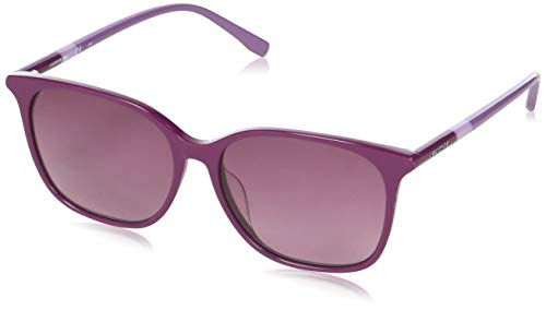 Lacoste cat eye, occhiali da sole donna, rosso/viola, 56