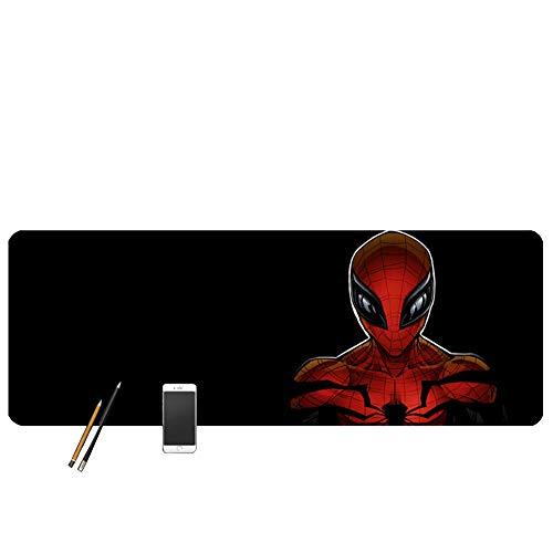 XCCV Tappetino per Mouse Spiderman, XXL, per Videogiochi, con Base in Gomma Antiscivolo, 800 x 300 x 3 mm, 3, Misura