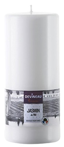 DEVINEAU 1302935 Bougie Grand Modèle 80H180 Jasmin du Nil Blanc