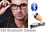 EDIMAEG 530 Bluetooth Glasses For mini wireless spy earpiece as A Full Hands free Talking Kit Really Glasses even can change lens (Full sets with earpiece)