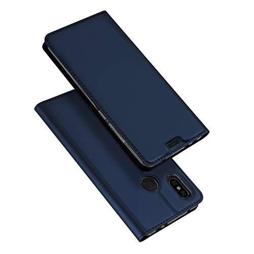 DUX DUCIS Hülle für Xiaomi Redmi Note 6 Pro,Ultra Dünn Flip Folio Handyhülle mit [Magnet,Standfunktion,1 Kartenfach] (Skin Pro Series) (Blau)