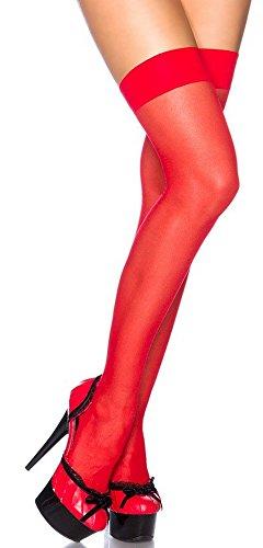 krautwear® Damen Erotische Sexy Elegante Halterlose Sheer Overknee -