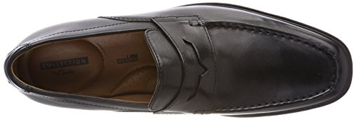 Clarks Mens Tilden Way Slipper Nero (pelle Nera)