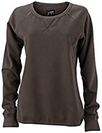James & Nicholson Women's JN991 Basic Sweatshirt lava XXL