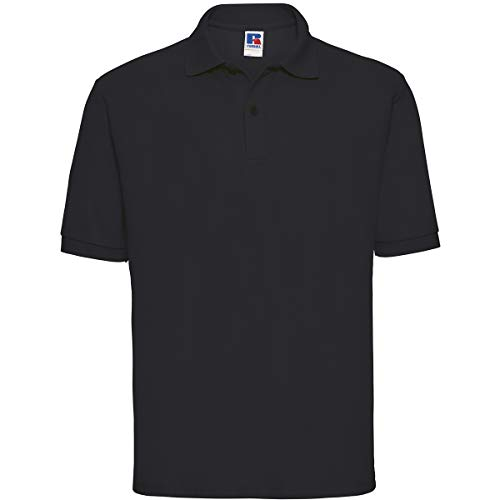 Russell Collection (Russell Collection Klassisches Poloshirt aus Mischgewebe R-539M-0 XXL,Black)