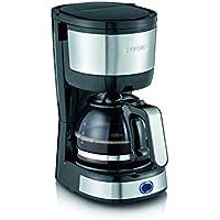Severin KA 4808 Macchina per caffè thè e Tisane, Filtro Permanente e Lavabile, 750 W, Acciaio Inox, Nero
