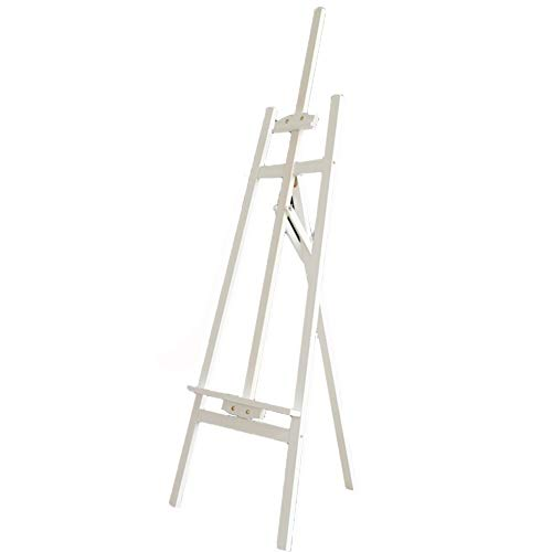 ayständer Kiefer Staffelei einstellbare Kunst Zeichenbrett Skizze Rahmen 148 cm Staffelei (Farbe : Weiß) ()