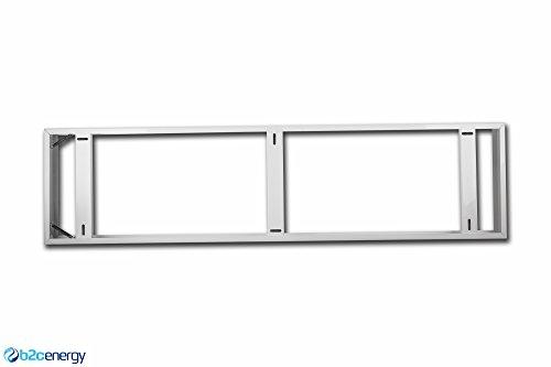 Preisvergleich Produktbild LED Panel Montage Rahmen 120x30 cm Aufbau Anbau Aufputz für Decke Wand Halterung Gehäuse