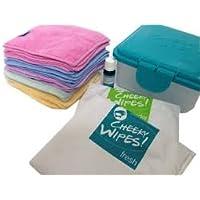 Cheeky Toallitas Manos y caras Kit de tela lavable toallitas húmedas