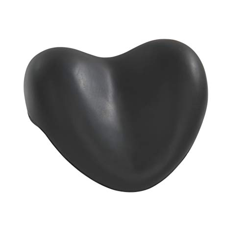 Wenko 18937100 Kopf- und Nackenkissen Tropic Black - Weichschaum-Kunststoff, 25 x 11 x 20.5 cm, schwarz
