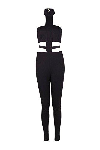 Noir Ruby Strap High Neck Jumpsuit Noir