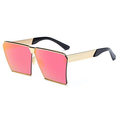 MEIHAOWEI Männer Frauen Square Mirrored Reflective Lens Oversized Polarized Sonnenbrillen Color 1