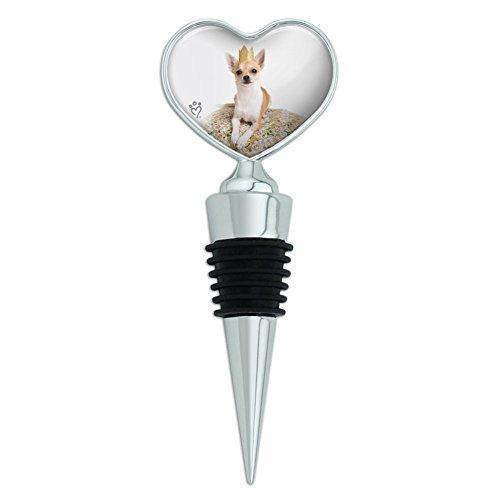Chihuahua Kissen KING Puppy Hund Herz Love Wein Flasche Stopper (Flasche Wein Hund)