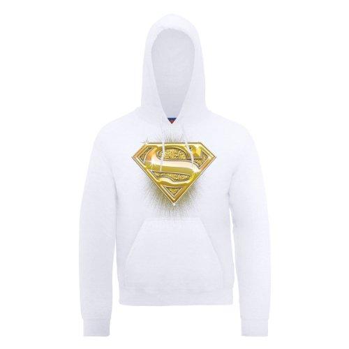 DC Comics Herren Sport Kapuzenpullover Weiß - Weiß