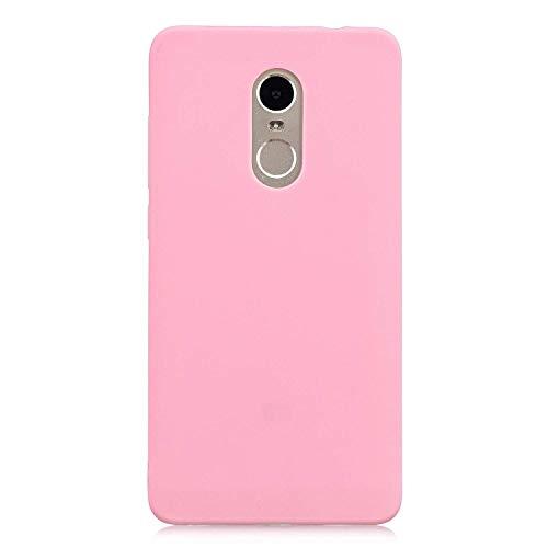 Funda Compatible Xiaomi Redmi 5 Plus Protectora de Silicona líquida para teléfono móvil Todo Caso Carcasa Protectora de teléfono Inteligente Ultra Delgada película a Prueba de Golpes(Oro Rosa)
