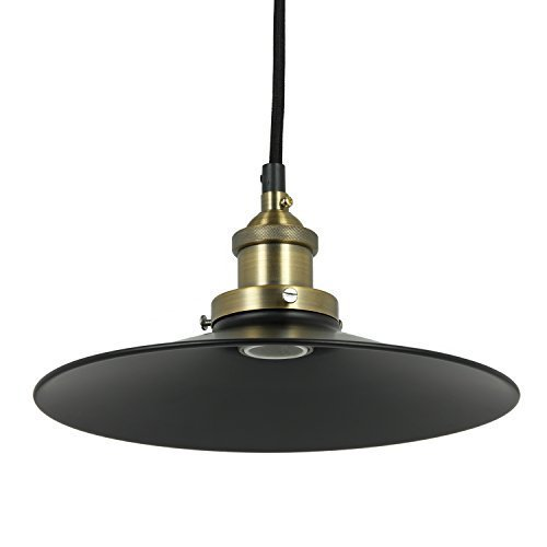 Bronze Canopy (Sunlite AQF/PD/SCN10/OB/AB Shallow Canopy Oil Rubbed Bronze Antique Style Pendant Fixture with Medium Base by Sunlite)
