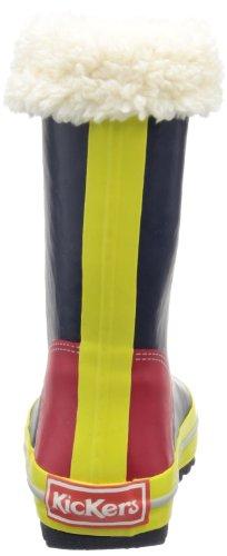 Kickers Rainycolor, Bottes à enfiler fille Multicolore - Mehrfarbig (MARINE JAUNE ROUGE 103)