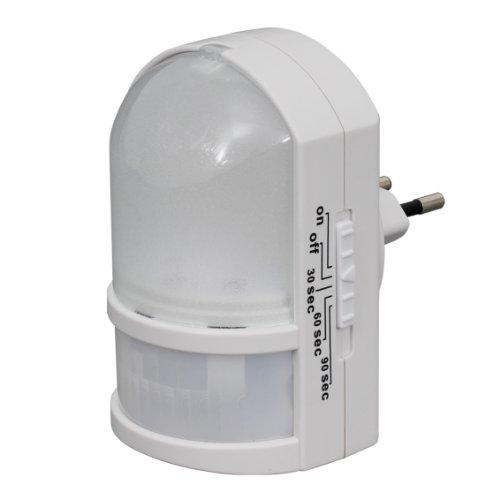 Trango TG11-038 LED Nachtlicht Sicherheitslicht mit Automatikfunktion direkt 230V mit Bewegungssensor