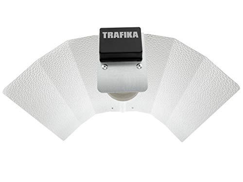 TRAFIKA Réflecteur stuco/Réflecteur Stucco/pour Ampoules HPS 250-600W/RÉFLECTEUR Culture/Réflecteur pour Lampes à Sodium/EXCLUSIVITÉ !!! Boîte raccordement de câbles Incluse/Réflecteur CE