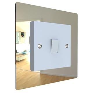Displaypro Single, Double Light Switch Surround Acrylic Finger Plate Panel Plug Socket (Mirror - Single)