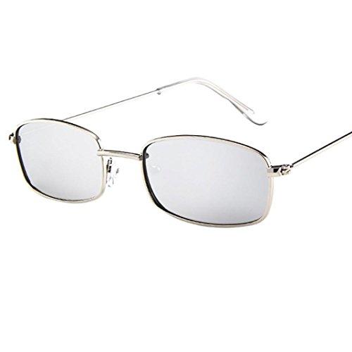 UV400 Unisex Sonnenbrille, BakeLIN Retro Rechteck Brillen Blockierung UV Gläser 2018 (Einheitsgröße, G)