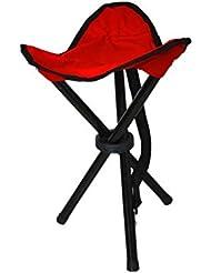 Klappbarer Stuhl Hocker Sitz für Camping Outdoor rot