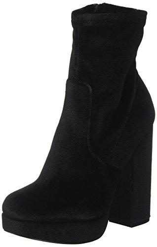 Steve Madden Damen Stardust Kurzschaft Stiefel, Schwarz (Black Velvet), 39 EU (Madden-stiefel Frauen Für Steve)