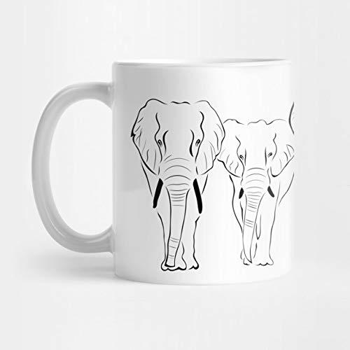 Llynice Elefantes 11 oz Taza de café