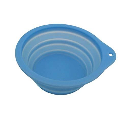 Silikon Pet Klappschüssel Food Grade Klappschüssel 600ml Expandable/Foldable Folding Travel Bowl für Lebensmittel Wasser - Light Blue0 -