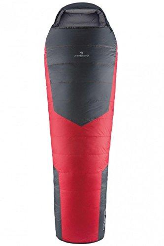 Ferrino lightec 1400piumino sacco a pelo, grigio/rosso, grande